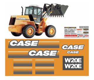 Adesivo Pá Carregadeira Case W20e Até 2011 Kit Completo
