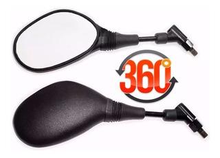 Retrovisor Estilo Xt660 Para Motos Honda Cb300 Titan Cg 360º