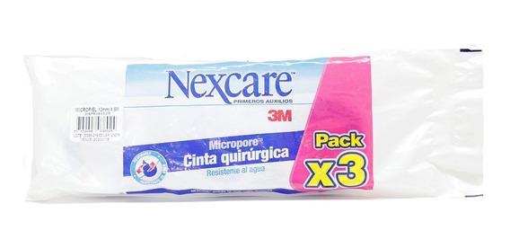 Cinta Micropore Quirurgica Nexcare Pack X 3 Und