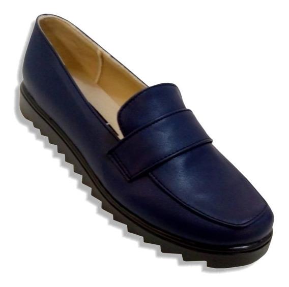 Mocasin Zapato Antifaz Muy Suave Y Comodo Horma Amplia