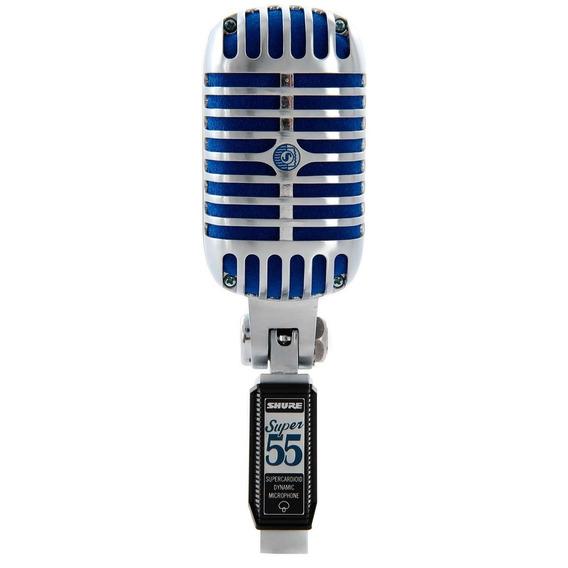 Microfone Com Fio De Mão Dinâmico Super55 Deluxe Shure