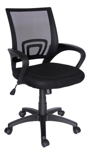 Imagen 1 de 4 de Silla de escritorio Econosillas Ecochair ergonómica  negra con tapizado de mesh y tela microespacial