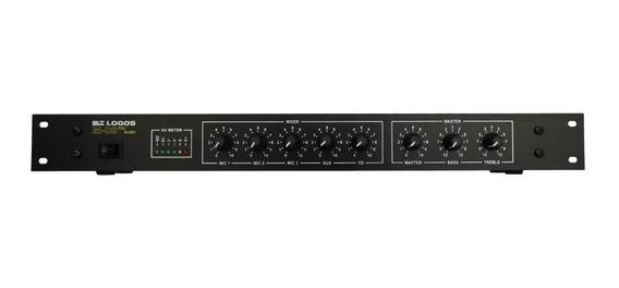 Pre Amplificador Com Mixer M-03 3 Microfones Aux E Cd