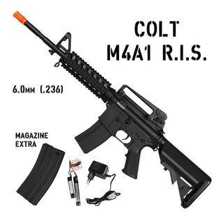 Rifle Airsoft Elétrico Cybergun Colt M4a1 Ris 6mm + Bateria