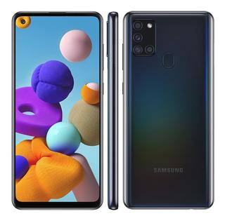 Celular Samsung A21s Dual 6.5 Octa Core 64gb 4gb Ram Preto