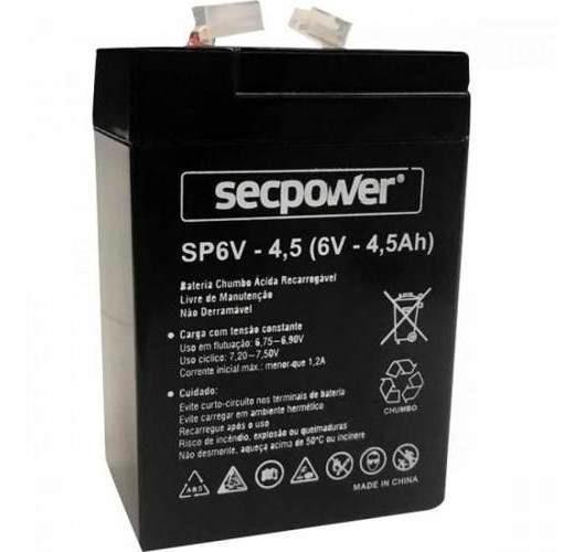 Bateria 6v 4,5a Secpower (bateria Para Motinha)