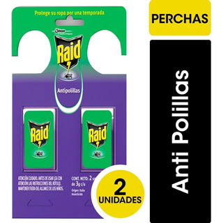Raid Anti Polilla Percha - 24 Unidades