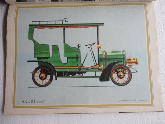 Revista 4 Rodas Antiga 1968 Poster Takuri/karmann Ghia