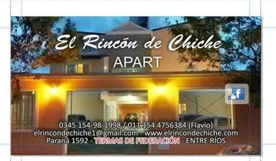 Apart El Rincon De Chiche Federacion Entre Rios Termas