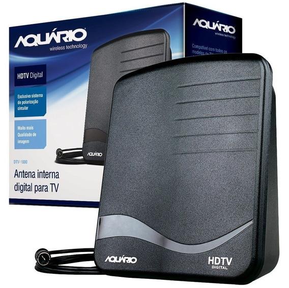 Antena Tv Digital Interna Uhf Hdtv Dtv1000 Aquário Full Hd