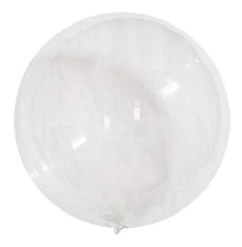 Globo Burbuja 18 Pulgadas Transparente Bobo X 50 Unidades
