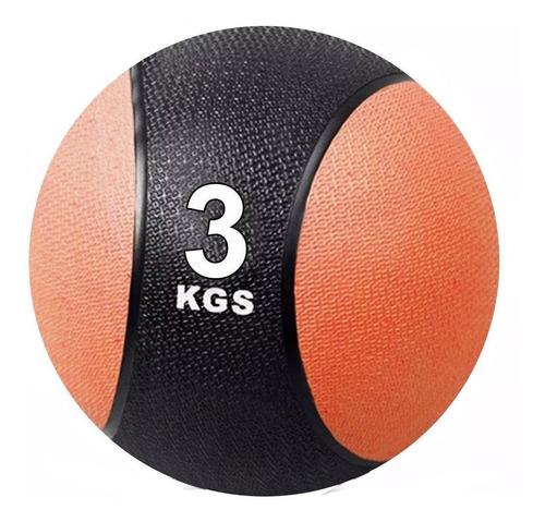 Pelota Medicinal 3k C/ Pique Balón Medicine Ball Peso El Rey