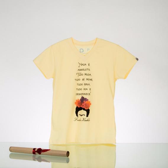 Camisa Frida - Feminina - Baby Look - Pergaminho