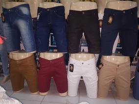 10 X Bermudas Cores Variadas Studio Designer Jeans