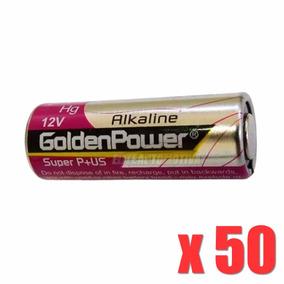 50 Peças Pilha Alcalina Golden Power 23a 12v Controle Longa