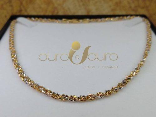 Cordão Feminino Ouro 18k Colar Luxo + Garantia 905