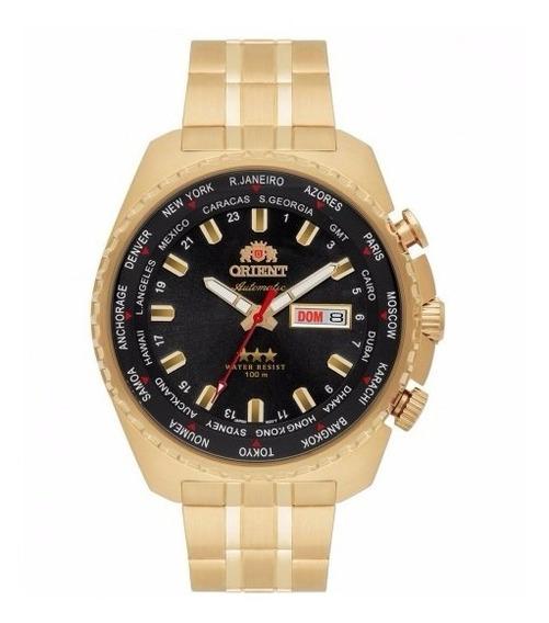 Relógio Orient Automatico V. Preto Dourado 469gp057 + Frete