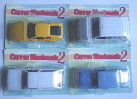 Miniatura 4 Carros Nacionais Aero Willys Gurgel Parati Miura