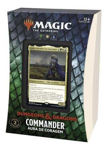 Imagem 1 de 8 de Deck Commander D&d Magic The Gathering Aura De Coragem