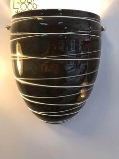 Lampara Arbotante Decorativa Caramelo Negro Mod886 Laiting