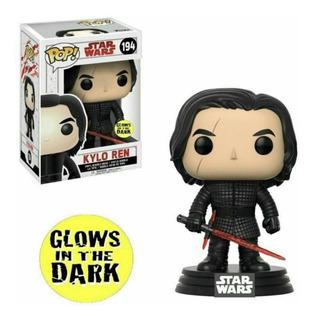 Funko Pop Kylo Ren Glow In The Dark #194 Star Wars C/protect