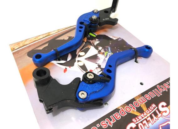 Manete Esportivo Regulagem Mt03 Mt-03 Yzf R3 R 3 Azul Yamaha