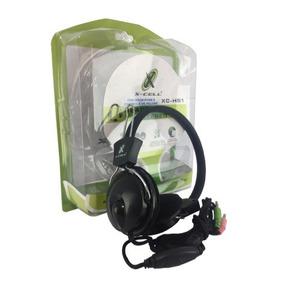 Headset Fone De Ouvido Estereo Com Microfone No Cabo Xc-hs1