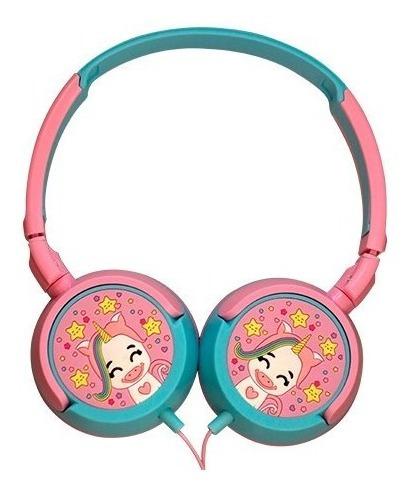 Fone De Ouvido P/ Criança Headphone Rosa Unicórnio Infantil