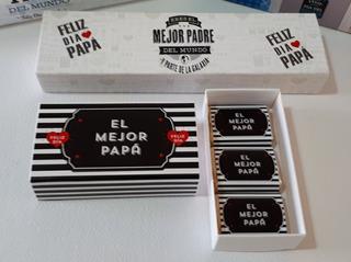 Caja Personalizada C/3 Chocos. Dia Del Padre