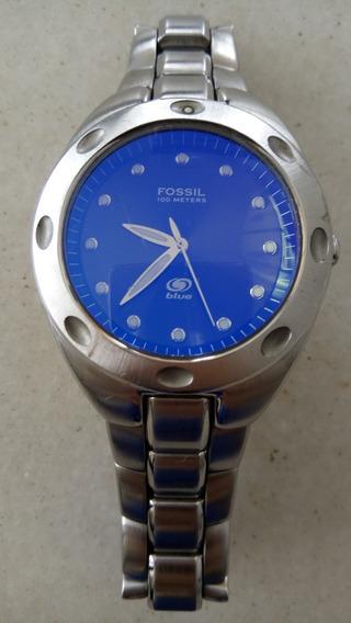 Relógio Fossil Masculino Blue Original Eua - Am-3345/340202