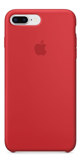 Forro Original Apple Silicon iPhone 8 Plus / 7 Plus Rojo