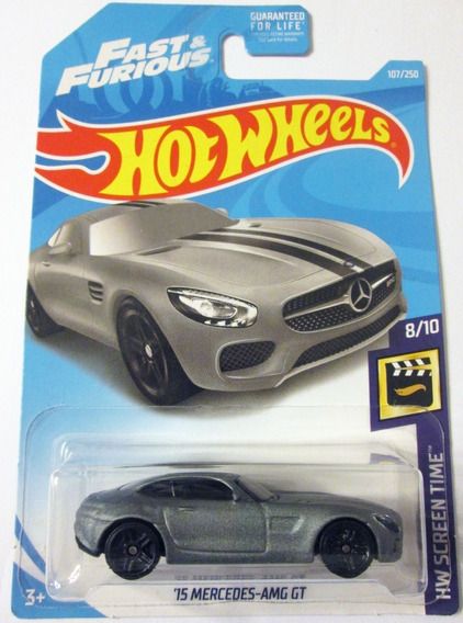 Hot Wheels Rápido Y Furioso ´15 Mercedes Amg Gt Escala 1/64