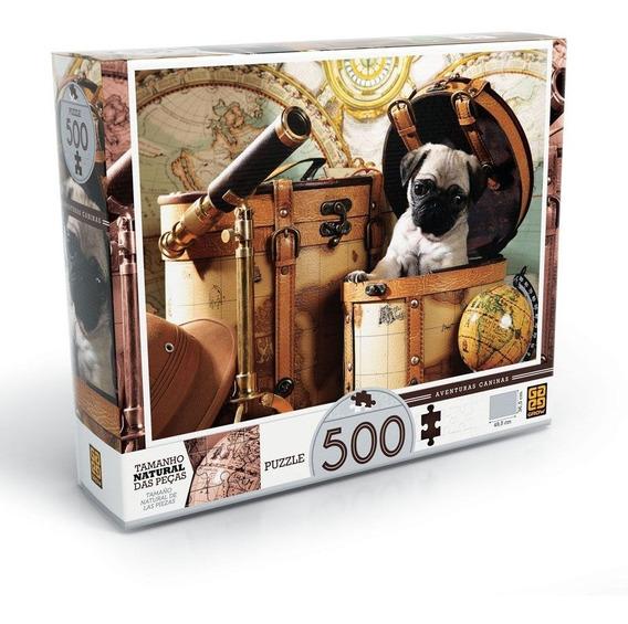 Puzzle 500 Peças Aventuras Caninas Grow