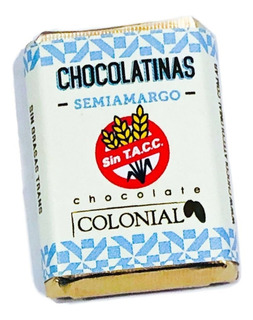Chocolatinas Colonial Semiamargo 5g -pack 50u La Golosineria