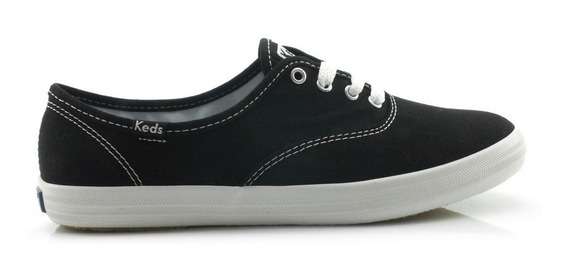 Tênis Keds Champion Woman Canvas Preto Kd100143