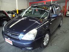 Carnival Ex 3.8 V6 24v 2007 /2007 Azul 2 Dono Completo Couro