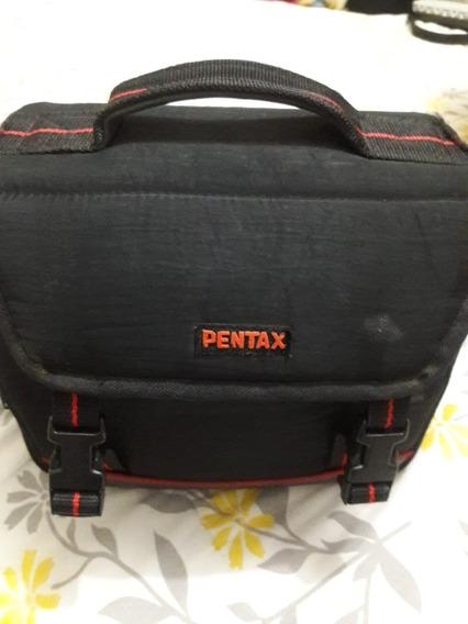 Pentax P30 Maquina Fotográfica Funcionando Com Flash E Bolsa