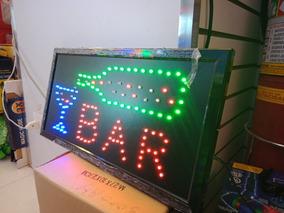 Placa Painel De Led Letreiro Luminoso Bar 220v +1 Caixa 220v