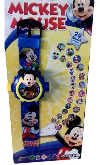 Brinquedo Infantil Relógio Com Projetor Digital Mickey Mouse