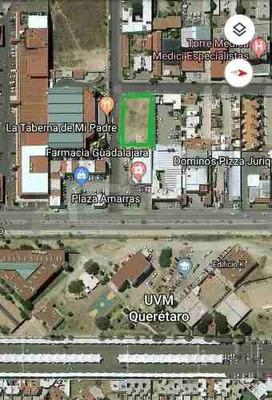 Terreno Comercial En Venta En Juriquilla ! Oportunidad !
