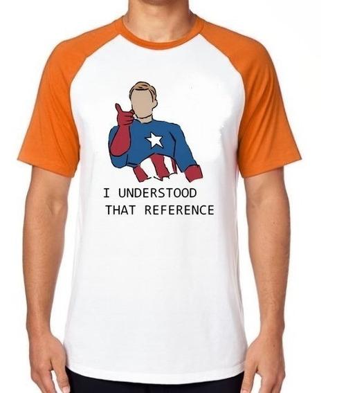 Camiseta Luxo Capitão América Understood Vingadores Avengers