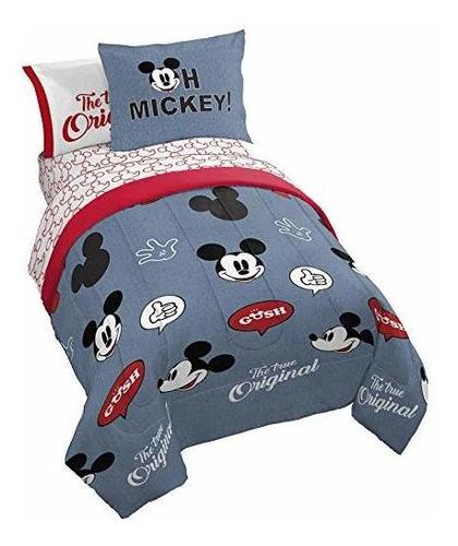 Juego De Sabanas Disney Mickey Mouse Para Niños 100x190 Cms