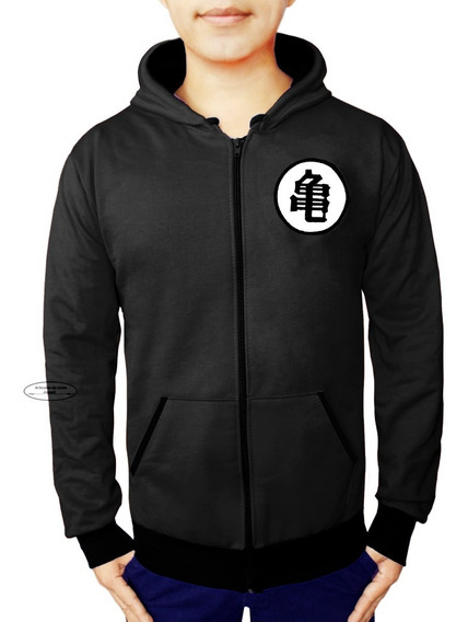 Sudadera Chamarra Grande Dragon Ball Goku Negra Black Super