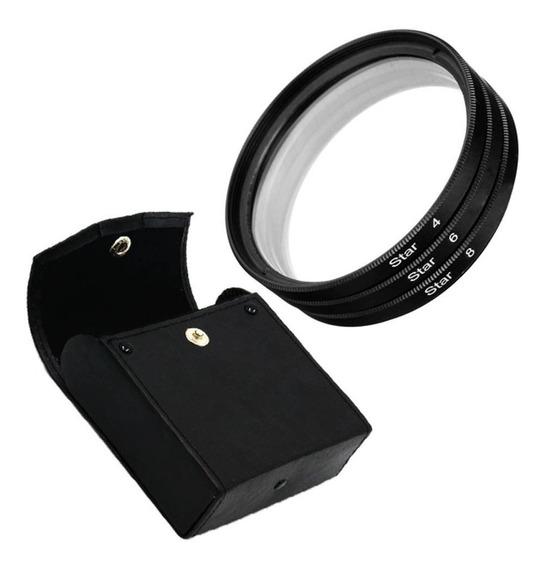 Kit Filtro Estrela 67mm Star Filter 4 6 8 Pontas Lente 67mm