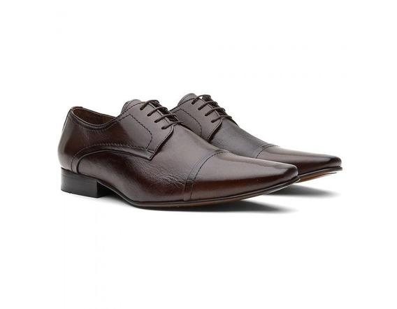 Sapato Social Masculino Couro Pelica Estampada 7015 - Frete Grátis