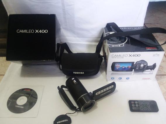 Cámara Filmadora Marca Toshiba, Modelo Camileo X400, Full Hd