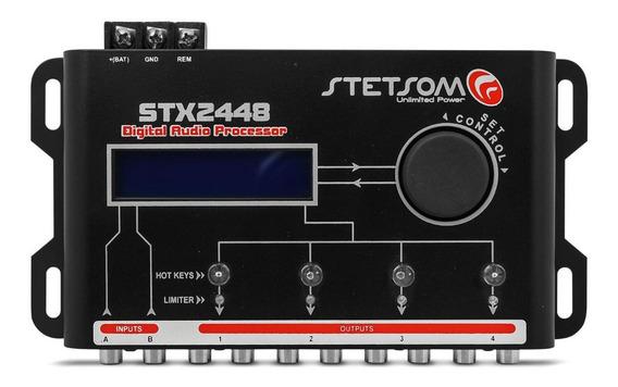 Processador De Audio Stetsom Stx2448 2 Entradas E 4 Saidas