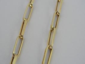 Pulseira De Ouro 18k Masculina - Malha Cartier