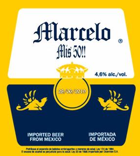 12 Stickers De Cerveza Personalizados Para Botellas Chicas