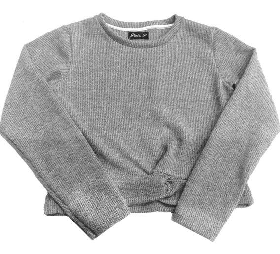Sweater Nena De Cashmere Con Nudo Somos Fabricantes!!
